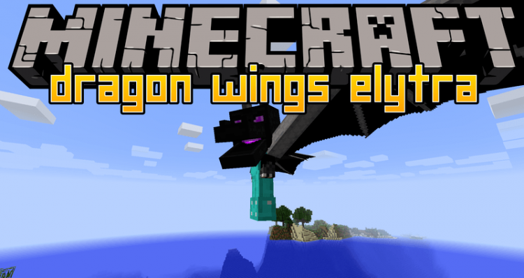 Dragon Wings Elytra mod for minecraft logo
