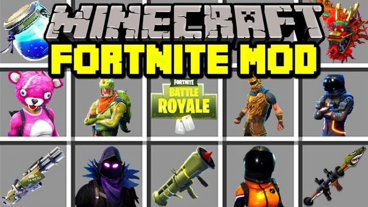 Fornite mod for minecraft logo