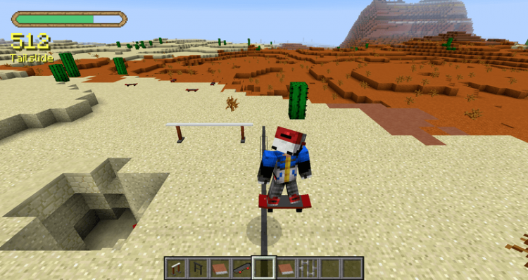 MrCrayfishs Skateboarding Mod for minecraft 05