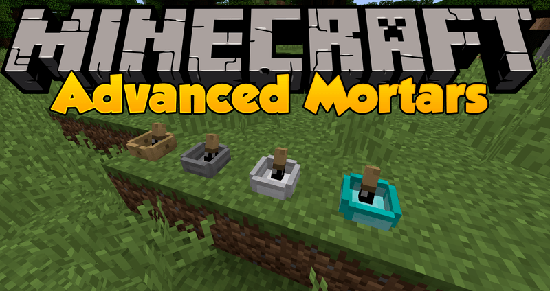 Advanced Mortars mod for minecraft logo