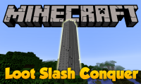 Loot Slash Conquer mod for minecraft logo