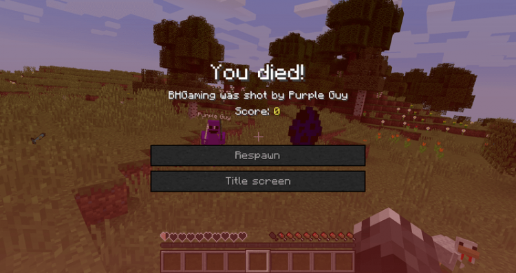 Purple Guy Mod for minecraft 07
