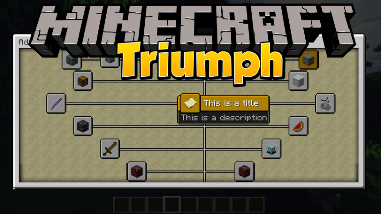 Triumph mod for minecraft logo