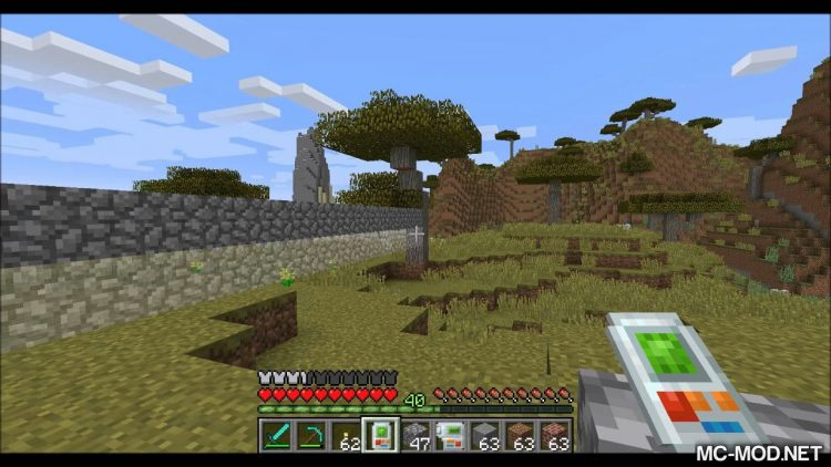 Building Gadgets mod for minecraft 02