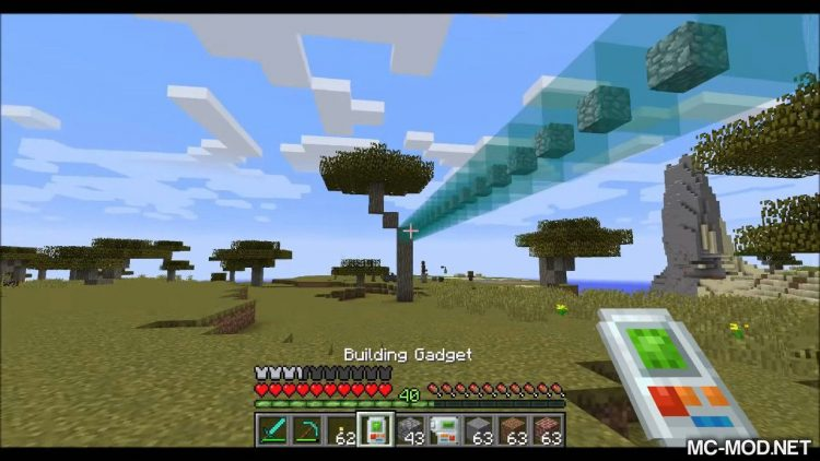 Building Gadgets mod for minecraft 03