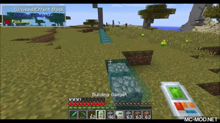 Building Gadgets mod for minecraft 04