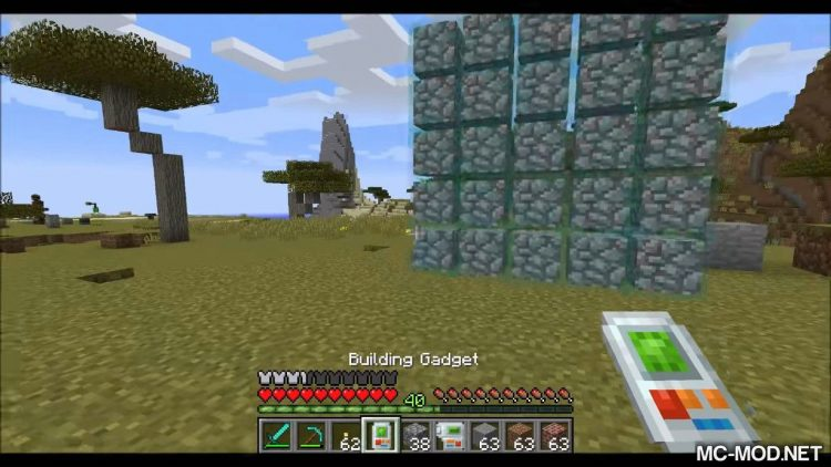 Building Gadgets mod for minecraft 06