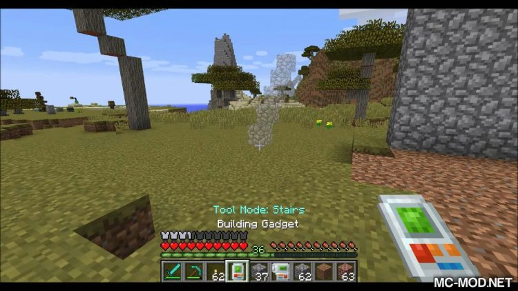 Building Gadgets mod for minecraft 09