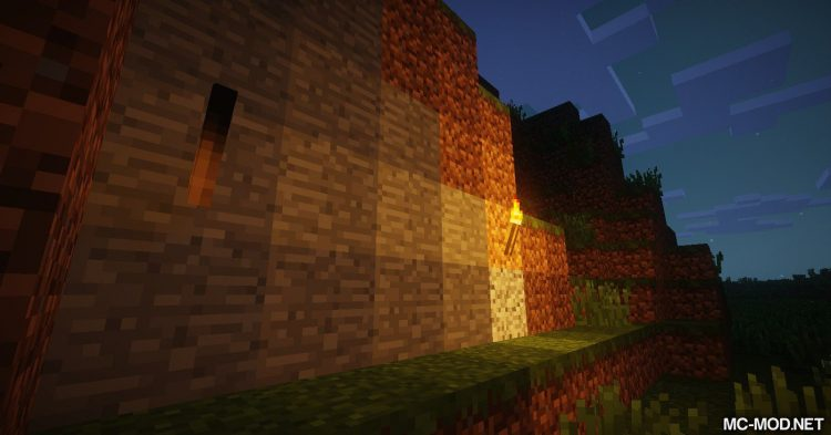Burning Torches mod for Minecraft 02