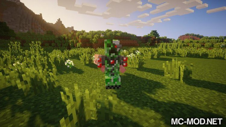 Laser Creeper Robot Dino Riders From Space mod for Minecraft 01