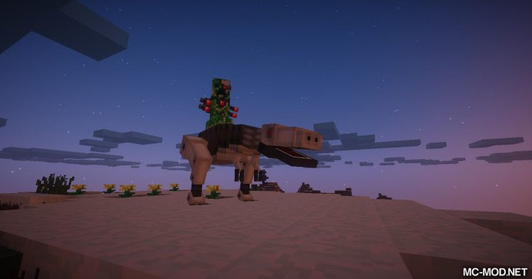 Laser Creeper Robot Dino Riders From Space mod for Minecraft 03