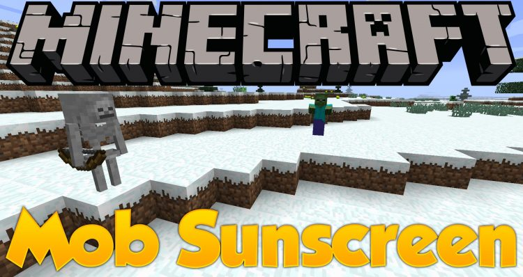 Mob Sunscreen mod for minecraft logo