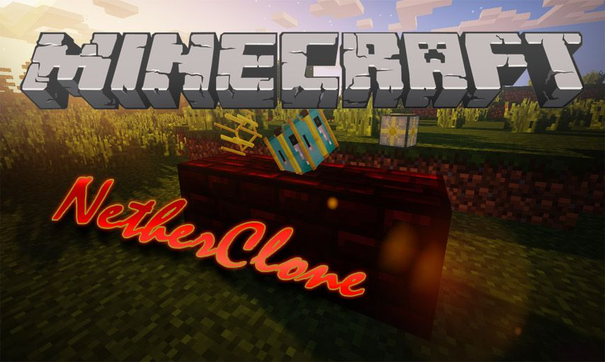 NetherClone mod for Minecraft logo