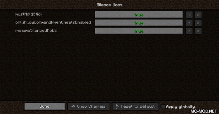 Silence Mobs mod for Minecraft (12)