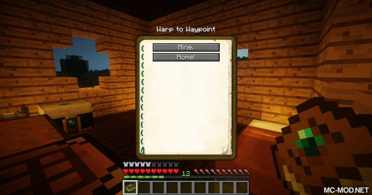 Warp Book mod for Minecraft 06