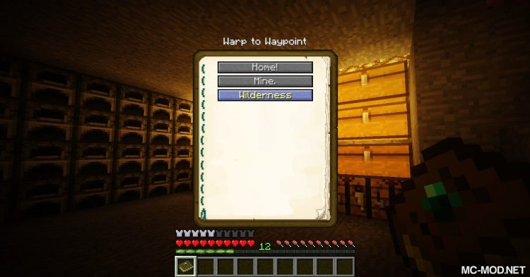 Warp Book mod for Minecraft 07