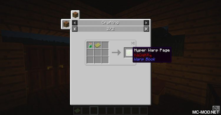 Warp Book mod for Minecraft 10
