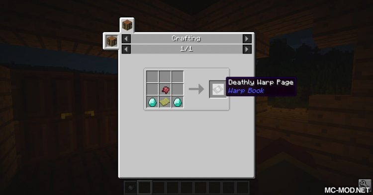 Warp Book mod for Minecraft 11