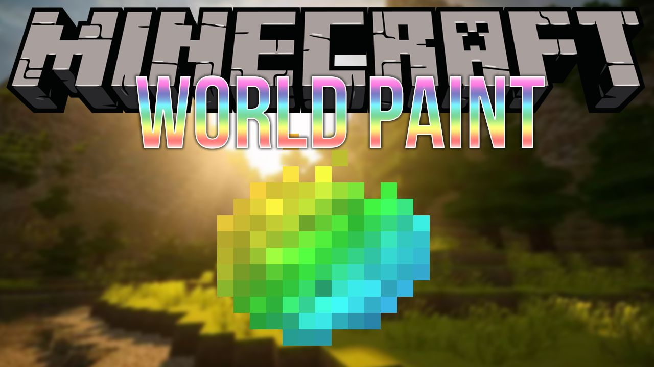 World Paint mod for minecraft logo