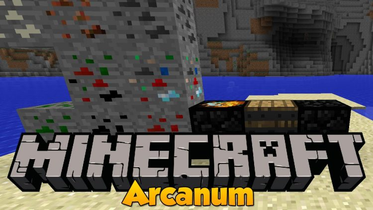 Arcanum mod for minecraft logo