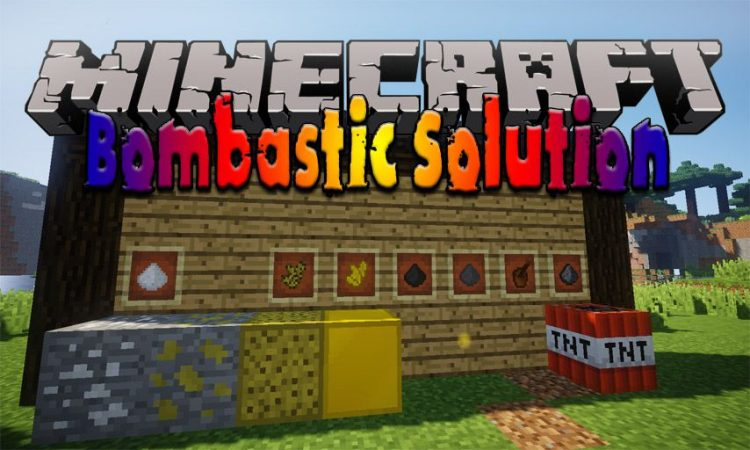 Bombastic Solution mod for Minecraft logo