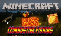 Combustive Fishing mod for Minecraft logo