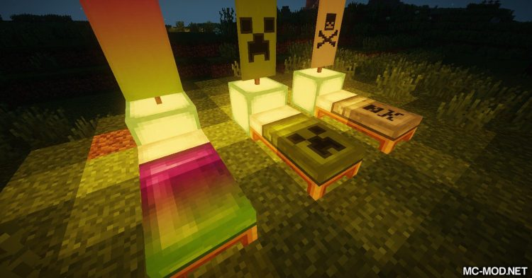 Cosmetic Beds mod for Minecraft (12)