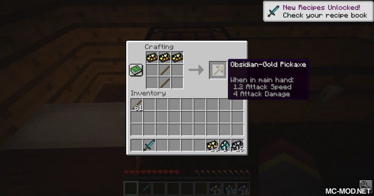 Immortal Obsidian mod for Minecraft (9)