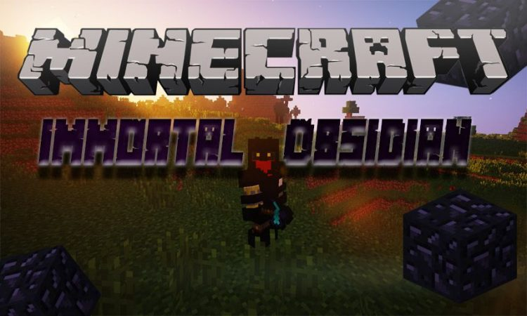 Immortal Obsidian mod for Minecraft logo