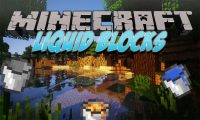 Liquid Blocks mod for Minecraft logo