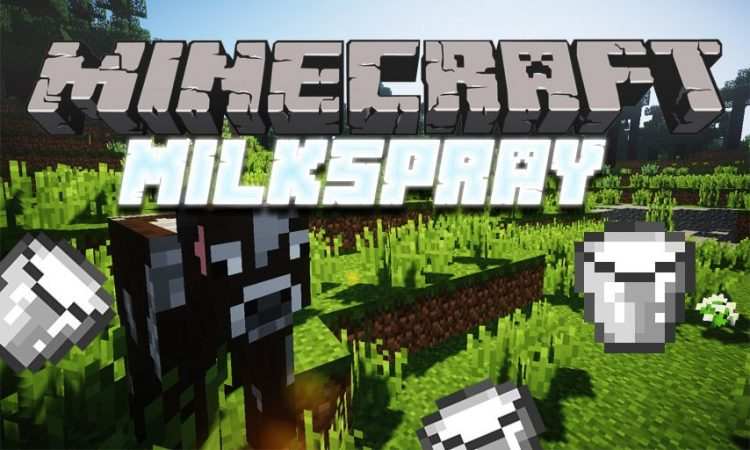 Milkspray mod for Minecraft logo