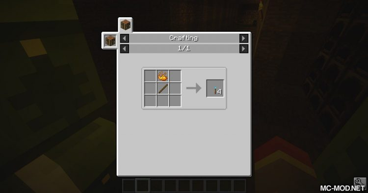 Sulfur Torches mod for Minecraft (1)
