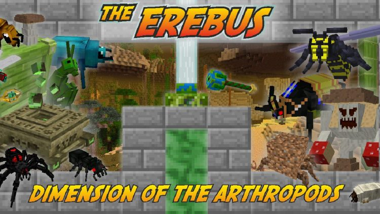 The Erebus mod for minecraft logo