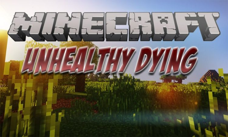 Unhealthy Dying mod for Minecraft logo