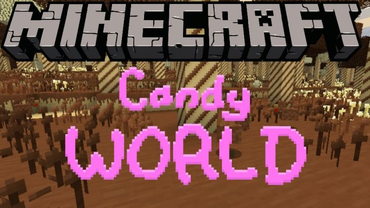 Candy World mod for minecraft logo