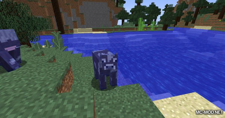 Fluid Cows mod for Minecraft (1)