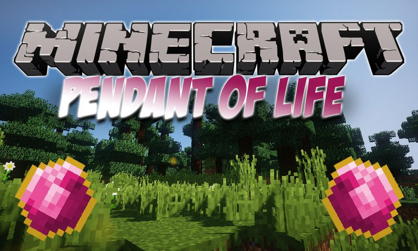 Pendant of Life mod for Minecraft logo