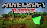 FlameLib mod for Minecraft logo