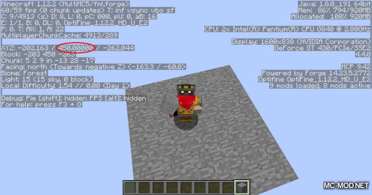 OpenCubicChunks mod for Minecraft (8)