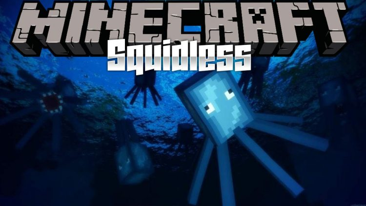 Squidless mod for minecraft logo