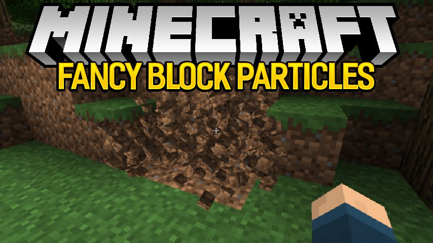fancy block particles mod for minecraft logo