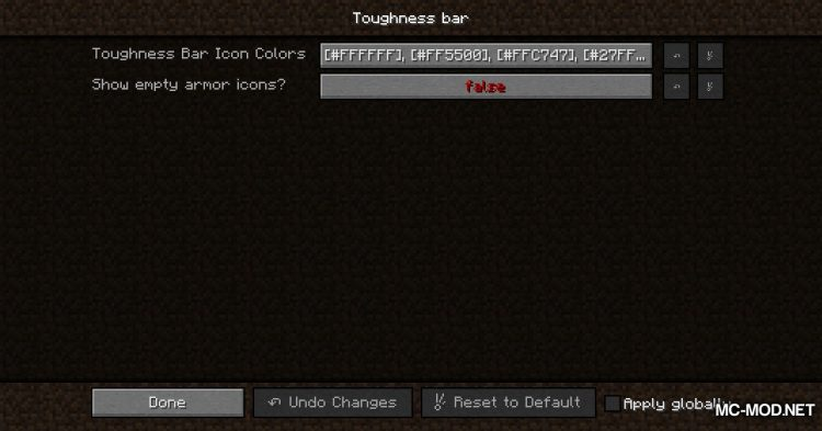 Armor Toughness Bar mod for Minecraft (13)