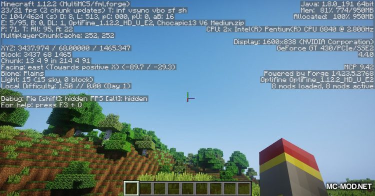 BiomeInfo mod for Minecraft (17)