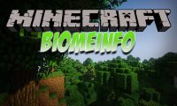 BiomeInfo mod for Minecraft logo
