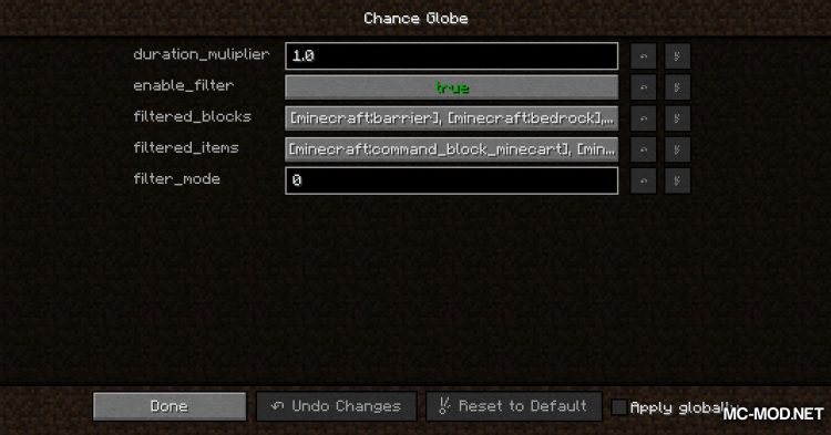 Chance Globe mod for Minecraft (2)