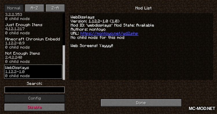 MCEF mod for Minecraft (2)