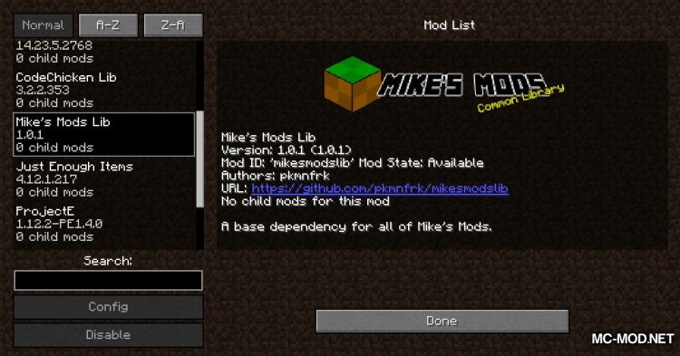 Mike_s Mods Library mod for Minecraft (1)
