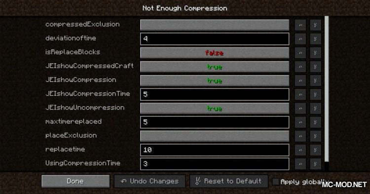 Not Enough Compression mod for Minecraft (2)