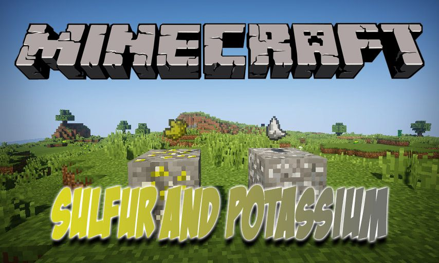 Sulfur and Potassium mod for Minecraft logo