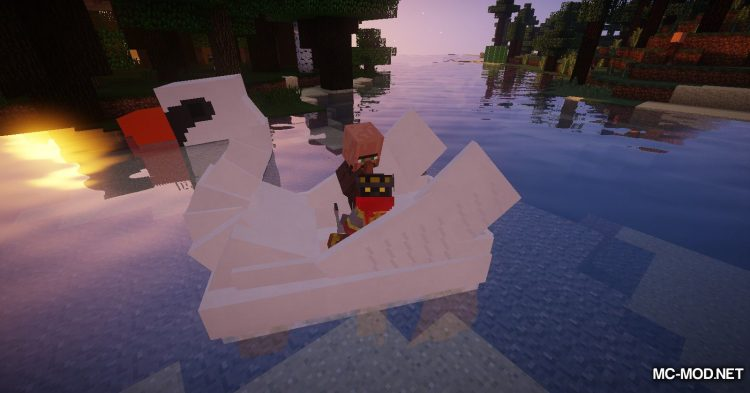 Swan Boats mod for Minecraft (10)